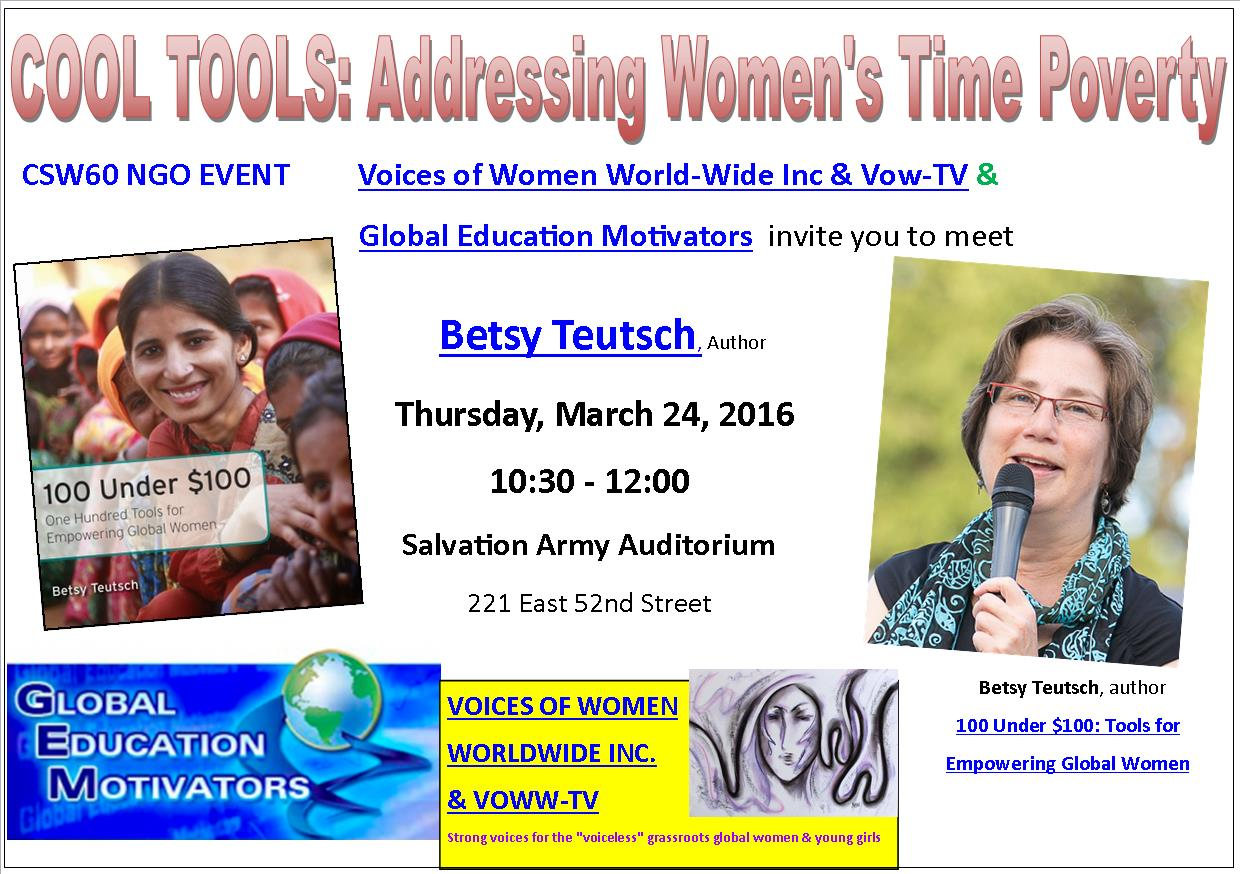 COOL TOOLS: Addressing Women's Time Poverty – at CSW16